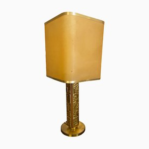 Vintage Italian Brass Table Lamp by Angelo Brotto for Esperia