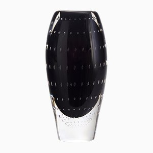 Vase en Verre Bullé par Vicke Lindstrand pour Kosta, 1950s