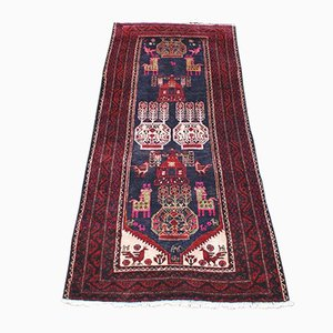 Vintage Middle East Wool Belutch Carpet, 1950s