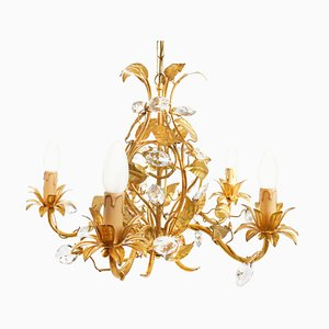 Large Vintage Hollywood Regency Chandelier