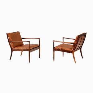 Rosewood Samso Lounge Chairs by Ib Kofod-Larsen for Olof Perssons Fatoljindustri, 1950s, Set of 2