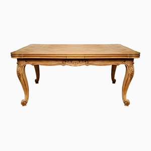 Antique French Provencal Beech Extendable Dining Table