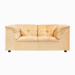 Vintage Cognac Leather 2-Seater Sofa from Asko