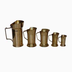 Vintage Brass Measuring Cups, 1950s, Set of 5