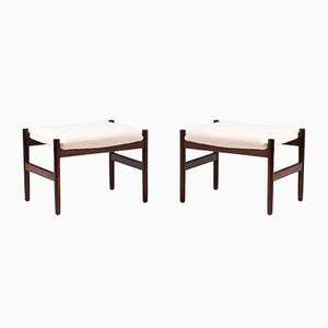 Rosewood and Boucle Stools from Spøttrup, 1960s, Set of 2