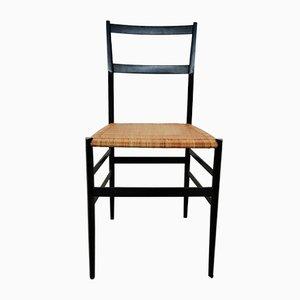Italienische Weiße Mid-Century Superleggera Stühle von Gio Ponti für Cassina, 1950er, 4er Set