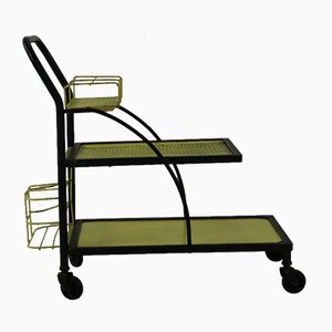 Yellow & Black Serving Trolley, 1960s