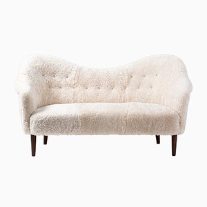 Sheepskin Sampsel Sofa by Carl Malmsten for AB Record, 1956