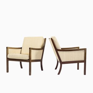 Mid-Century Armchairs by Ole Wanscher for Poul Jeppesens Møbelfabrik, Set of 2