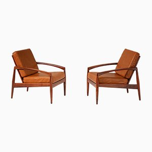 Rosewood Paper Knife Lounge Chairs by Kai Kristiansen for Magnus Olesen, 1956, Set of 2