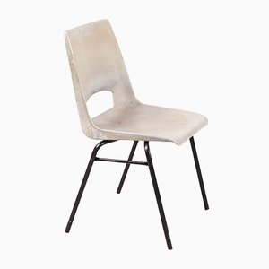 Gray Stackable Side Chair by Philippus Potter for Ahrend De Cirkel, 1970s
