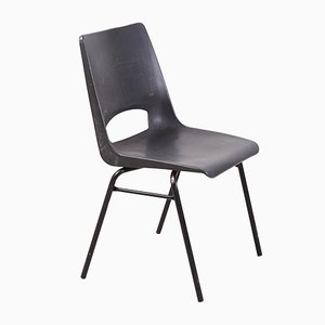 Dark Gray Stackable Side Chair by Philippus Potter for Ahrend De Cirkel, 1970s