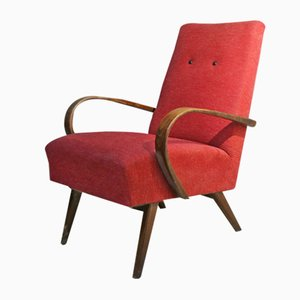 Czech Art Deco Armchair in the Style of Jindrich halibala, 1940s