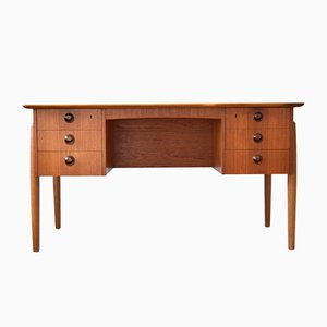 Danish Teak Desk by Kai Kristiansen, 1950s