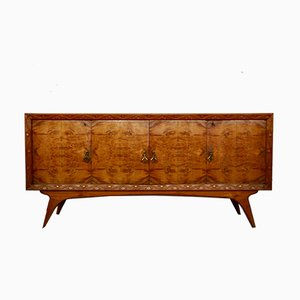 Mid-Century Italian Cherrywood and Walnut Sideboards, 1950s, Set of 2