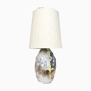 Schwedische Tischlampe aus glasierter Keramik von Marian Zawadzki für Tilgmans Keramik, 1957