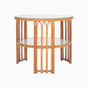 Dänischer Mid-Century Tisch aus Bambus & Ulmenholz, 1940er