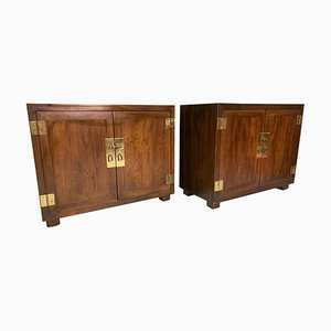 Double Door Cabinets or End Tables from Henredon, 1970s, Set of 2