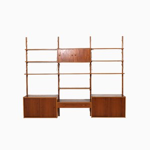 Danish Teak Wall Unit by Preben Sørensen for Randers Møbelfabrik, 1950s