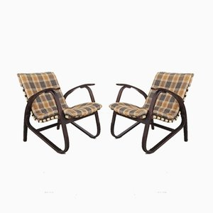 Armchairs by Jan Vanek, 1940s, Set of 2