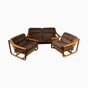 Mid-Century Italian Living Room Set, Set of 3