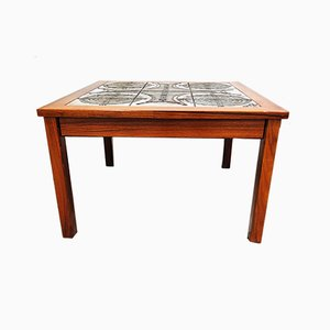 Vintage Ceramic Rosewood Coffee Table from Ox Art, 1977