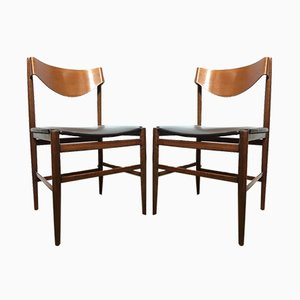Italian Rosewood Dining Chairs by Gianfranco Frattini, 1960s, Set of 2