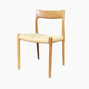 Chaises de Salon Modèle 77 Vintage en Teck par Niels Otto Møller, 1970s, Set de 5
