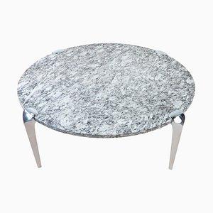 Grande Table Basse Ronde Mid-Century en Granite, 1960s