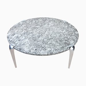 Large Mid-Century Granite Round Coffee Table, 1960s