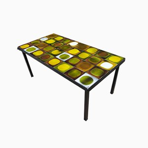 Table Basse en Céramique par Roger Capron pour Vallauris, 1960s