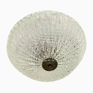 Italienische Murano Glas Deckenlampe von Venini, 1930er