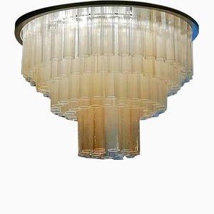 Lampada da soffitto in vetro di Murano di Ercole Barovier per Barovier & Toso, anni '50
