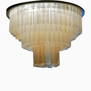 Murano Glass Ceiling Lamp by Ercole Barovier for Barovier & Toso, 1950s