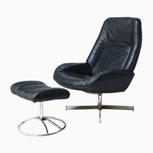 Danish Reclining Lounge Chair & Ottoman, 1960s
