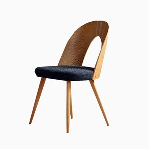 Melange-Black Wool Dining Chairs by Antonín Šuman for Tatra, 1960s, Set of 4