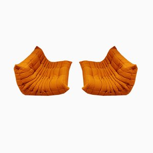 Orange Sofas by Michel Ducaroy for Ligne Roset, 1970s, Set of 2