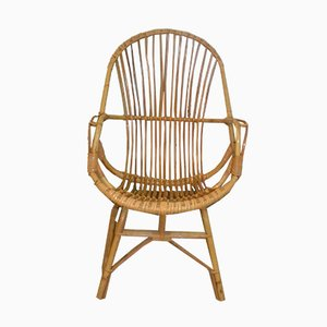 Mid-Century Rattan Terrace Chair, 1960s