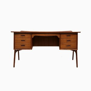 Danish Teak Desk by Svend Åge Madsen for Sigurd Hansen, 1950s