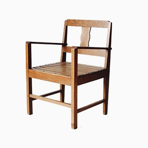 Dutch Oak Children's Chair, 1930s