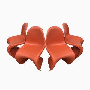 Chaises de Salon par Verner Panton pour Fehlbaum, 1973, Set de 4
