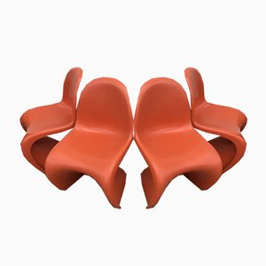 Dining Chairs by Verner Panton for Fehlbaum, 1973, Set of 4