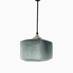 Mid-Century Double Glass Pendant Lamp in the Style of Carl Fagerlund for Orrefors, 1960s