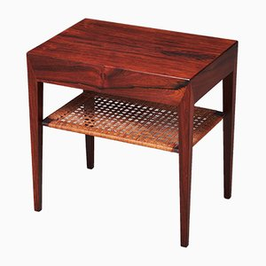 Rosewood Side Table by Severin Hansen for Haslev Møbelsnedkeri, 1950s
