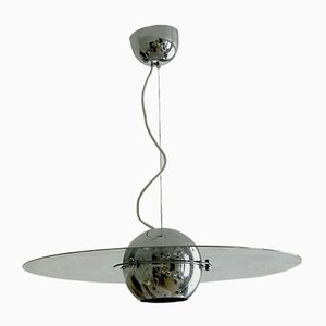 Space Age Italian Ceiling Lamp by Sergio Mazza for Quadrifolio, 1970s