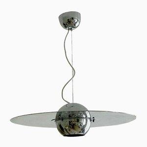 Space Age Italian Ceiling Lamp by Sergio Mazza for Quadrifolio, 1970s