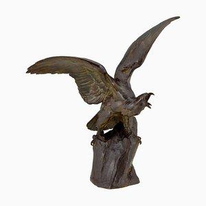 Art Deco Bronze Eagle Sculpture by Maximilien Louis Fiot, 1920s