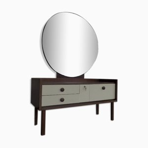 Vintage Dressing Table and Mirror Set, 1970s