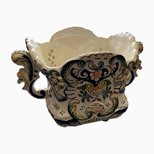 Porcelain Vide Poche from Rouen Desvres, 1920s