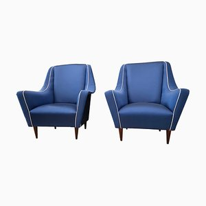 Mid-Century Lounge Chairs Attributed to Ico Luisa Parisi for Ariberto Colombo, Set of 2
